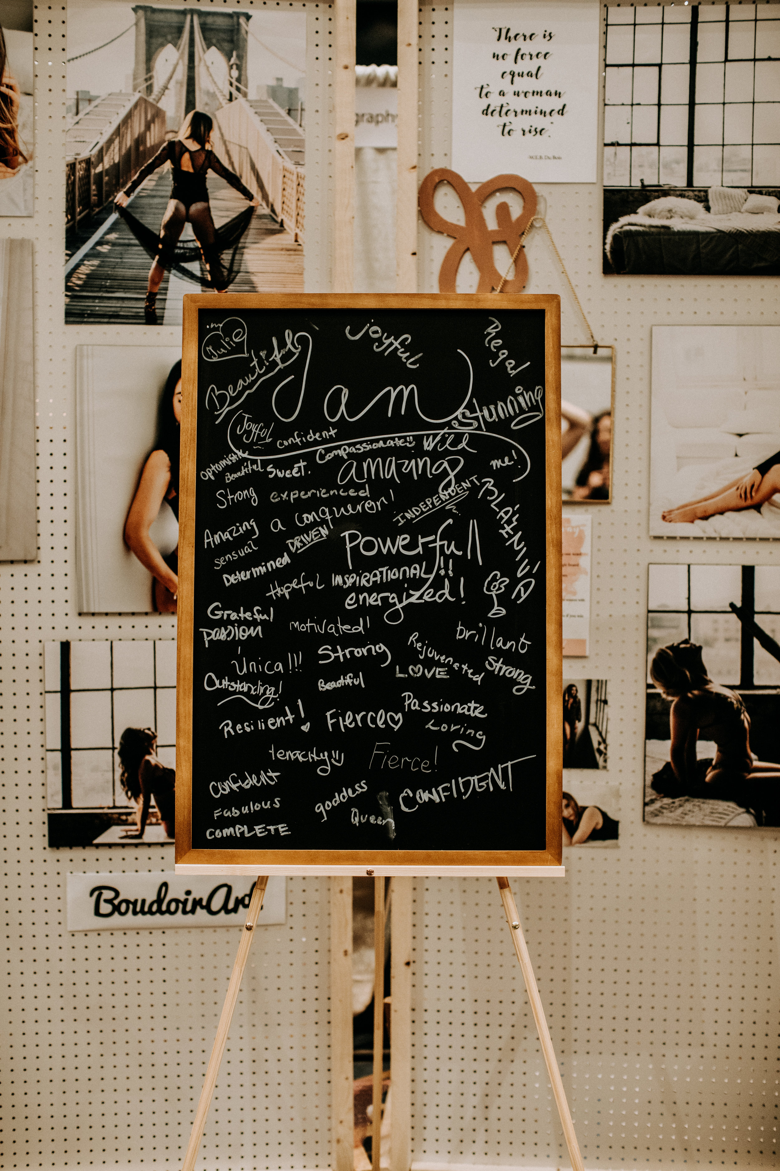 Empowering GIVEAWAY - I asked each women who visited me at the booth to look in the mirror on the wall, smile at herself, take a few seconds and write down on the blackboard how she describes herself using one word… Look what magic they came up with. It was pretty powerful moment seeing this final result.I still have the board in my studio. It is a piece of art!Thank you all who took time and participated. The winner of the free session will be announced next week on Wednesday, November 14 in my Instagram stories. Make sure you follow me: @boudoir.art.jp