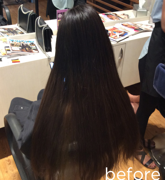 Stunning black to red transformation - before