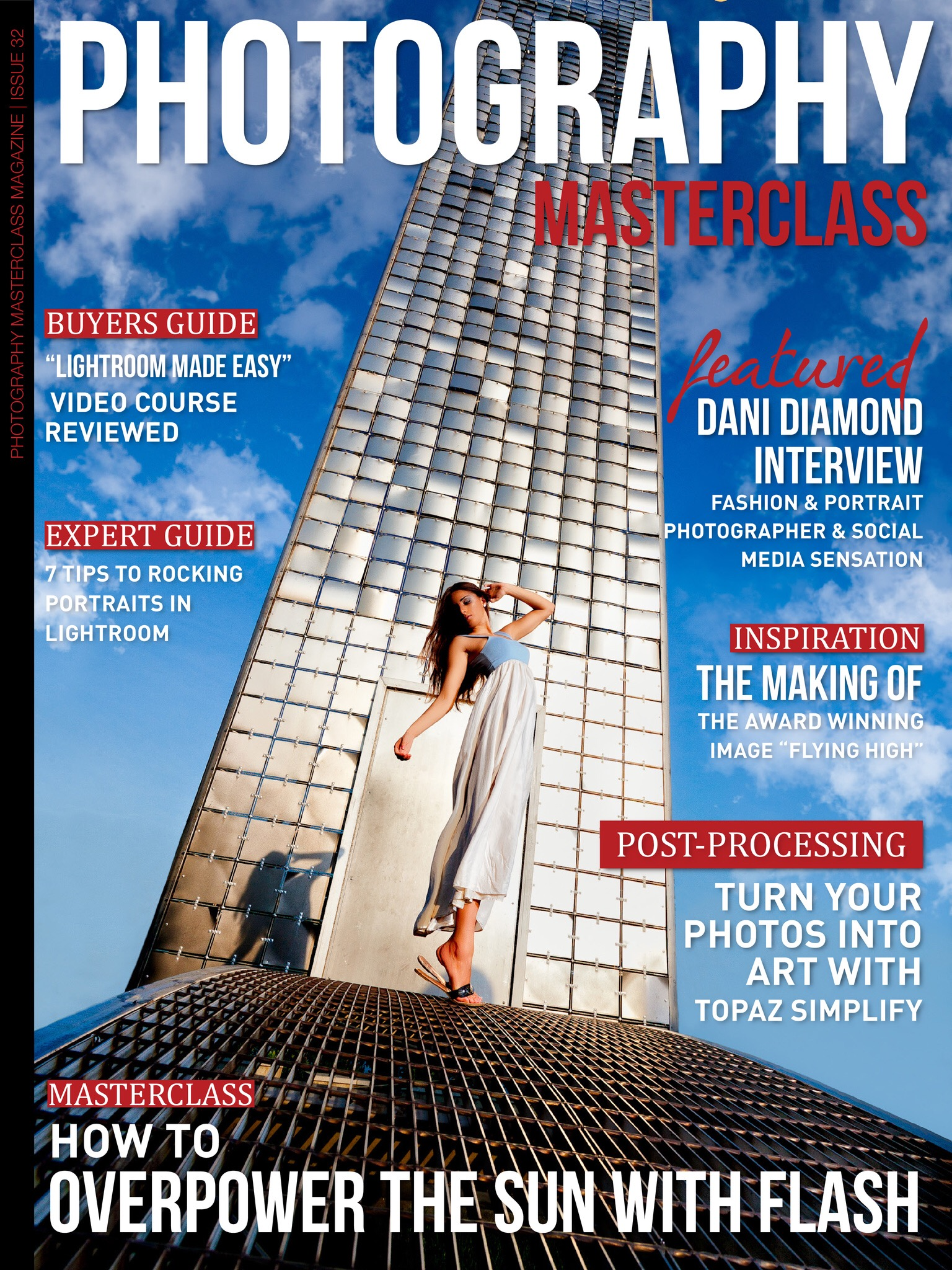 "Michael Zero's Magazine Cover image "" THE TOWER"" on Photography Masterclasss Magazine."