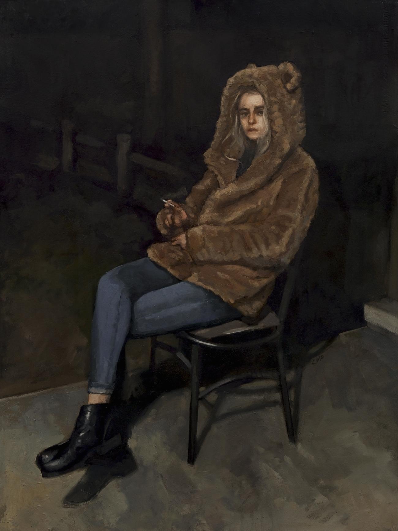 Ash in her bear coat