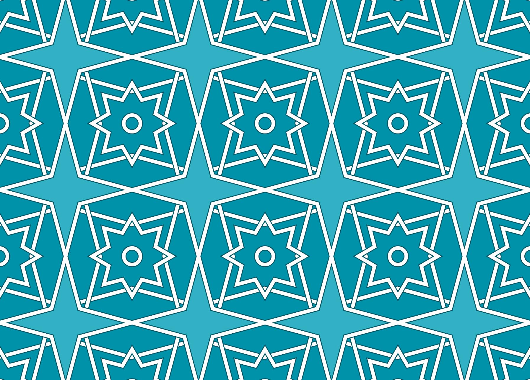 Monochrome tessellation—Islamic tile design