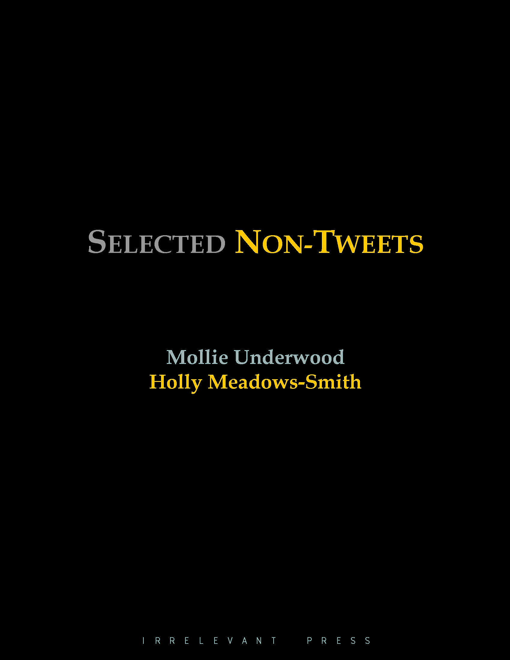Selected Non-Tweets Cover