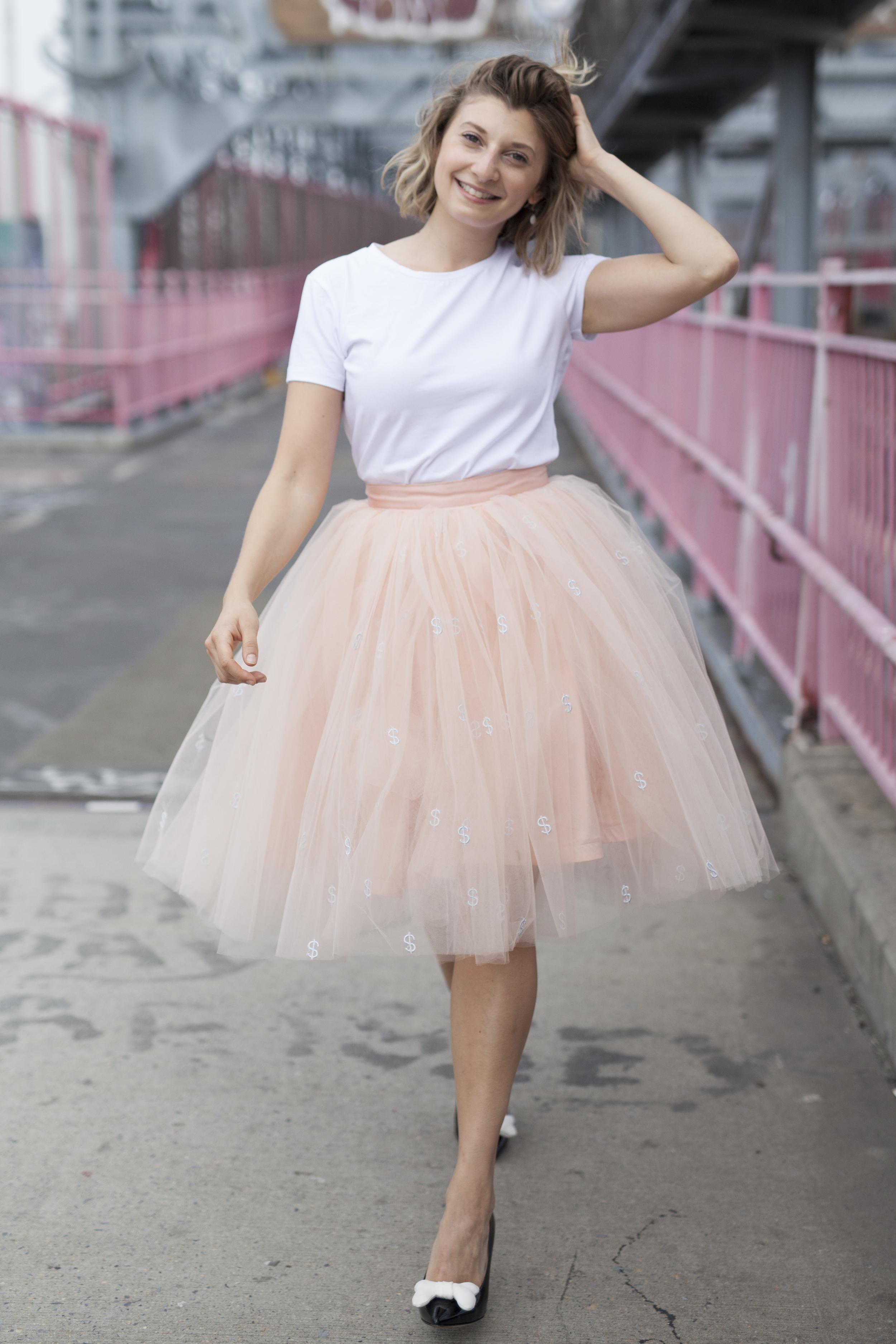 This is Lisa on the Williamsburg bridge wearing the CUPCAKE$$ skirt. This photo was taken by Megan Merkley.