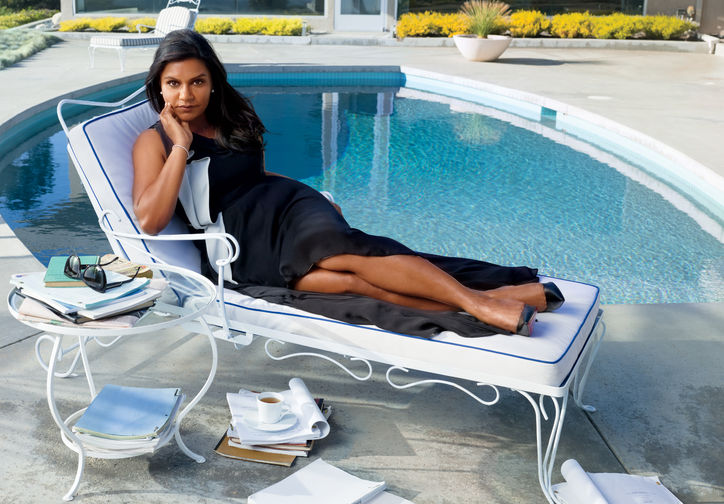Mindy Kaling in Glamour Magazine