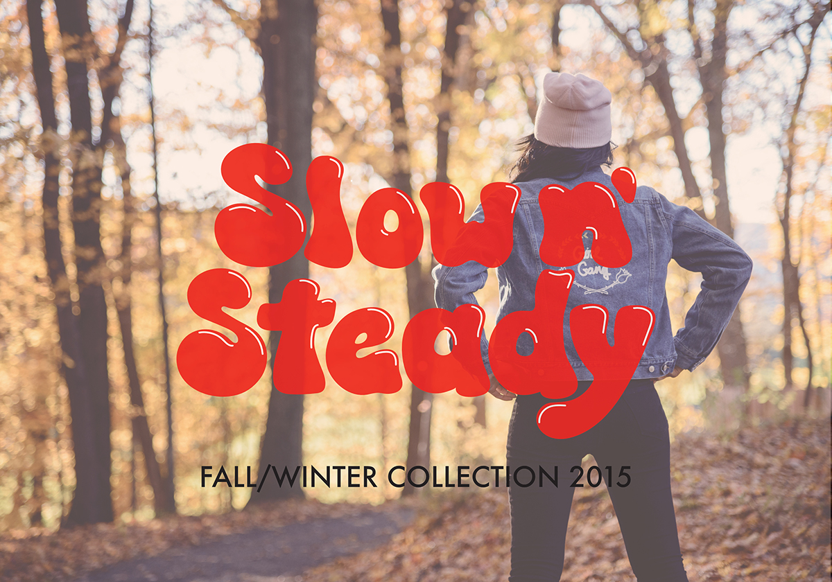 Image of Gloria Cavallaro at Storm King by Jon Cospito. Cover photo for Slow n' Steady collection featuring the Girl Gang jacket.