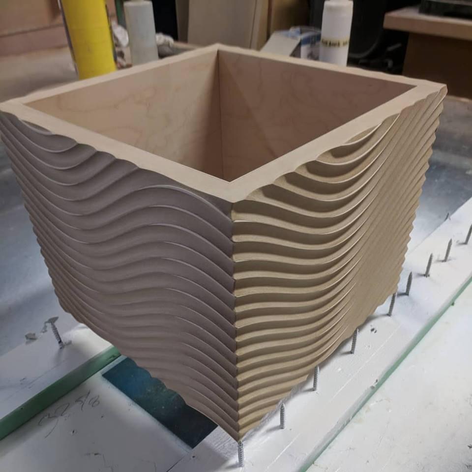 Wave box - special CNC cut