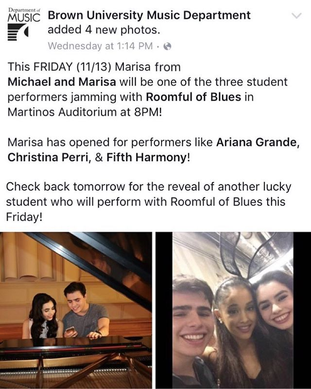 Looking forward to performing with Roomful of Blues tonight at Brown University! 🎶