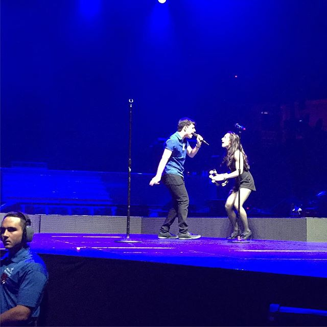 #honeymoontour #thehoneymoontour #arianagrande #openingact #mmofficial #michaelandmarisa #popduo #duo #photooftheday