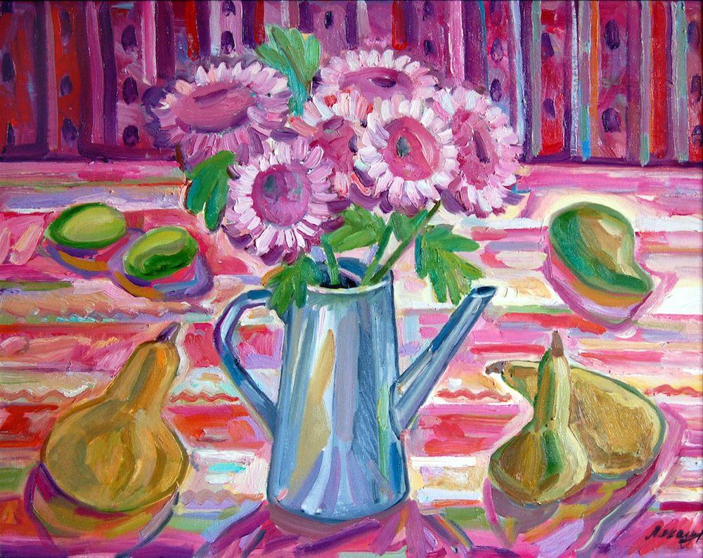21.груши и розовые цветы2008.jpeg