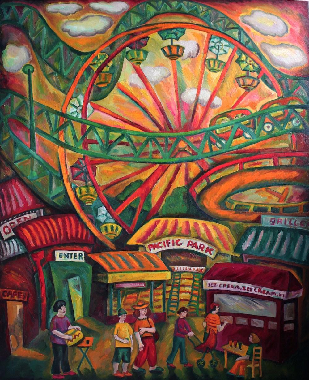 Series Carousel in LA oil,canvas, 150X119sm 2011
