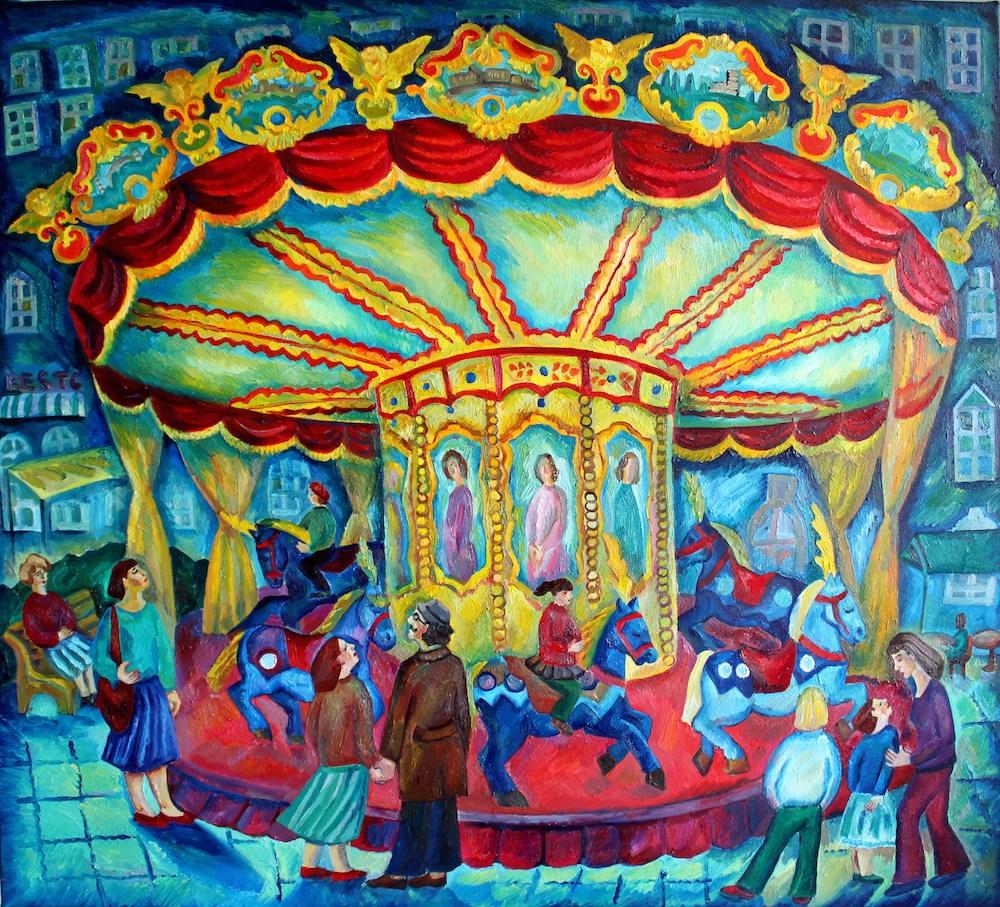 Carousel in Paris oil,canvas 2011