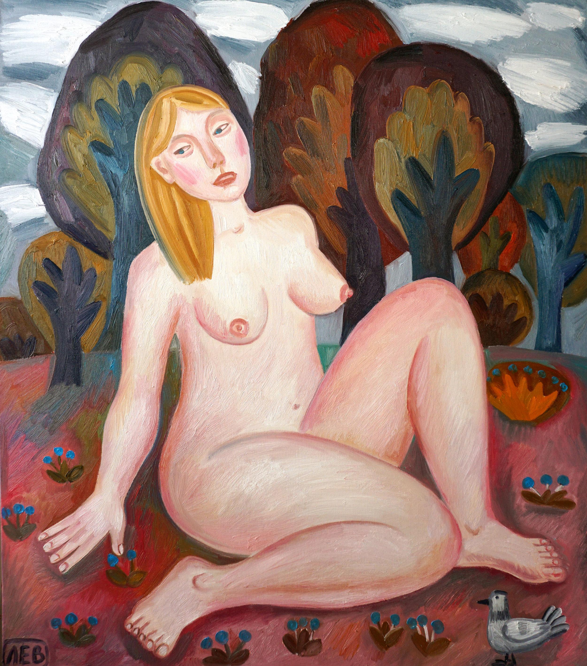 """Dryad"" 111х96 sм, 2016 oil on canvas"