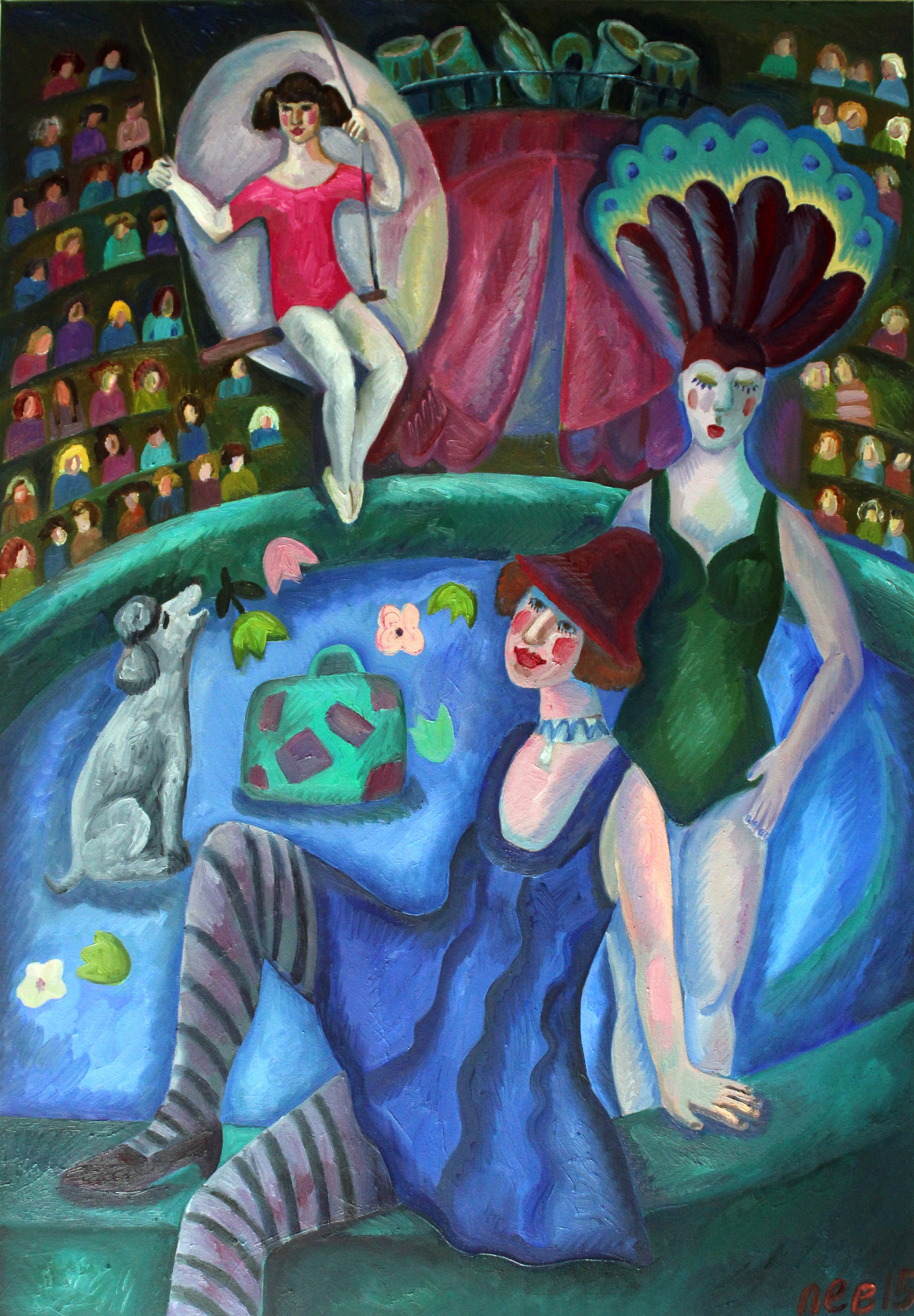 """"""" Circus №1"""" oil on canvas , 2015 , 117x81sm"""