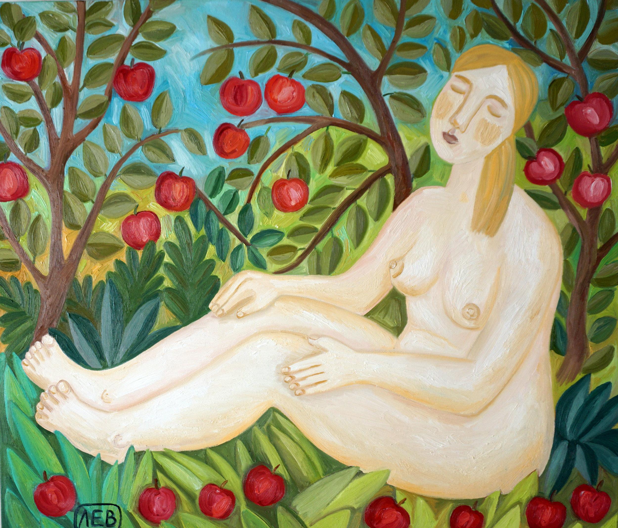 """The Savior of the Apple Feast Day""111х96 sм, 2016 oil on canvas"