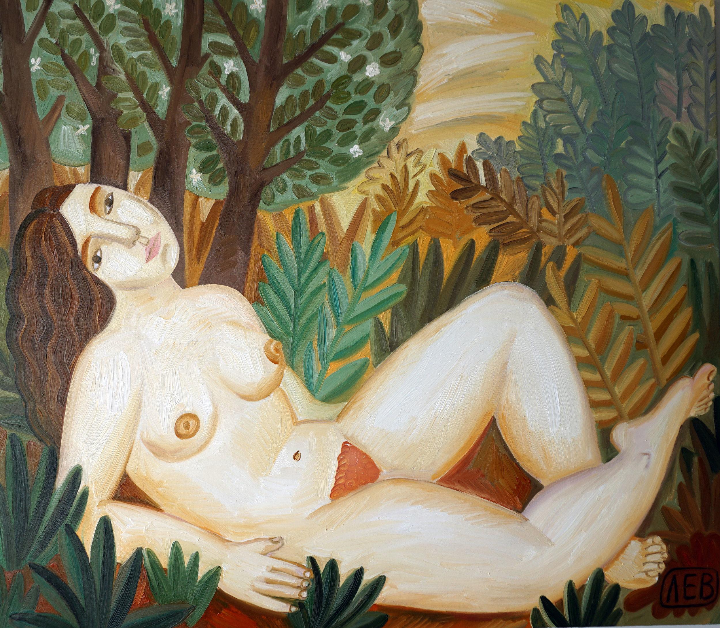 """Oread"" series ""Nymphs"" oil on canvas, 96х111см, 2016"