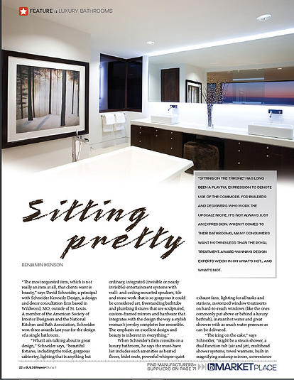 Master bath of 932 Rembrandt in Luxury Bathrooms feature of BUILDERnews Magazine