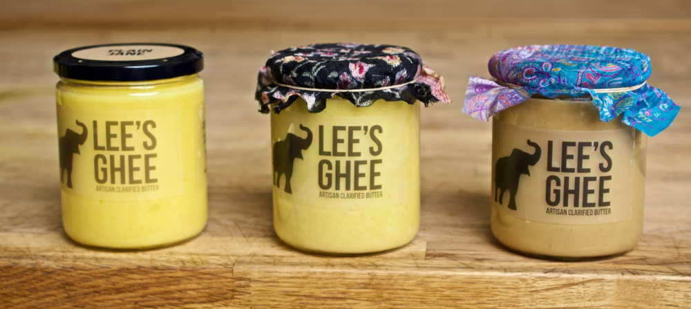 Plain Jane, Cardamom Kiss, and Noisette Ghee by Lee's Ghee