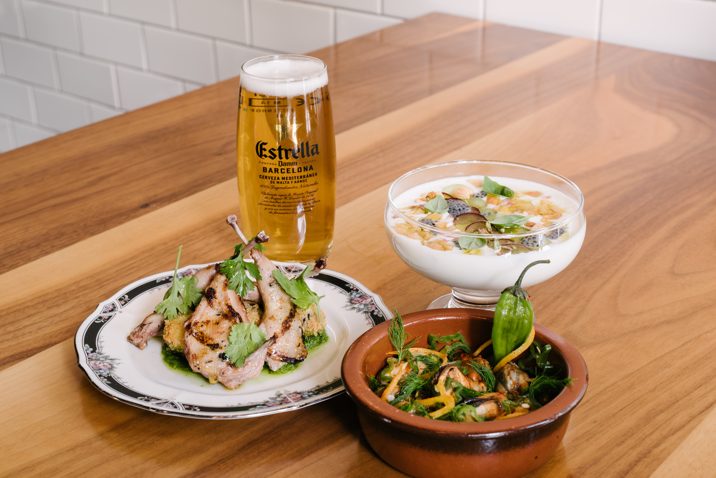 Damm, that's pretty! (see what I did there?)The Tapas Journey at East Thirty-Six is as luxurious for your taste buds as it is for your eyes.  Photo by Jeffrey Chan courtesy Estrella Damm.