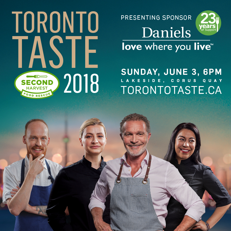 You can't argue with this lineup! Chefs Brandon Olsen, Ivana Raca, Mark McEwan and Elia Herrera and their most talented peers will be serving up delicious things for a great cause at Toronto Taste 2018. At the end of the post, I'll tell you how to win two tickets between May 14-17th!.