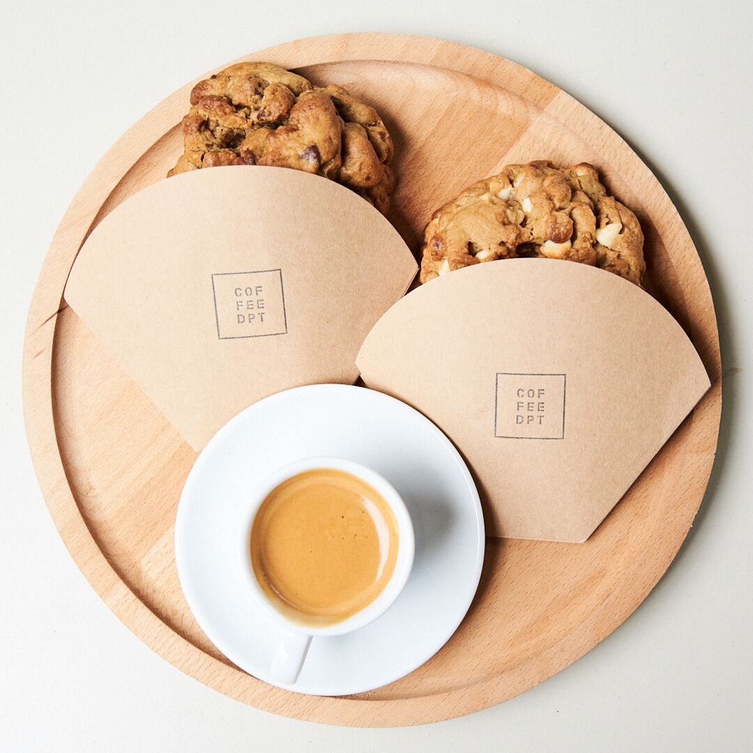Epic cookies and a shot of espresso at COFFEE DPT.  Photo by Tobias Wang.