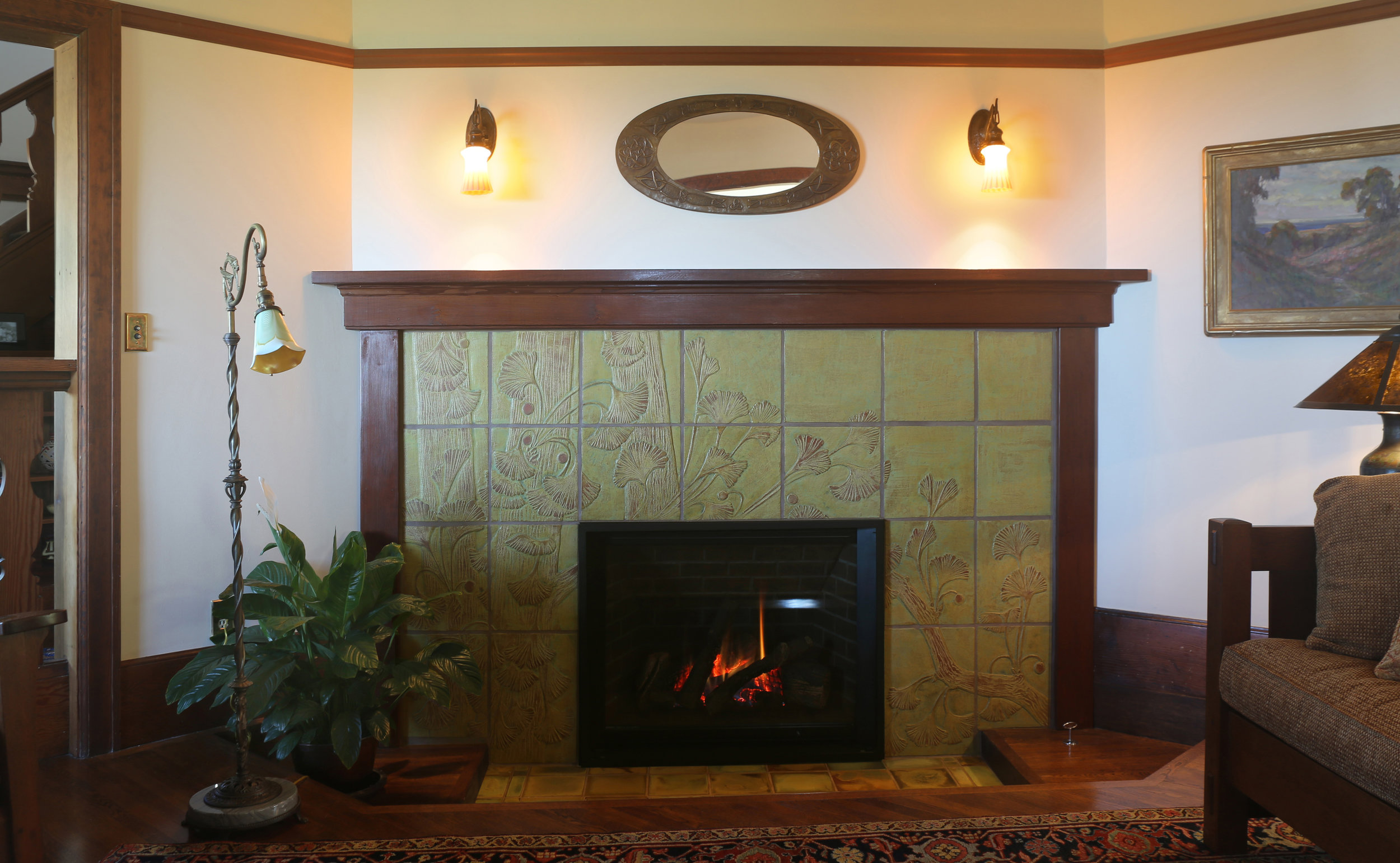 Long Fireplace
