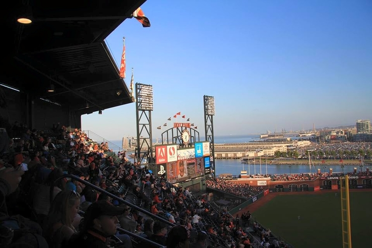 At AT&T Park for a Giants game