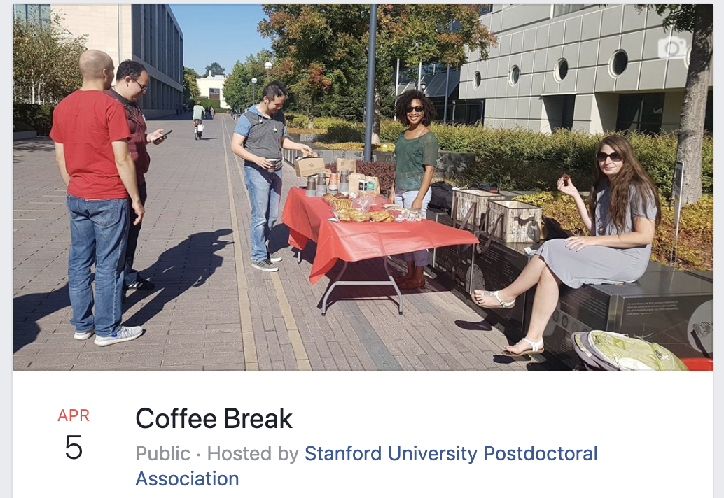 Need some coffee or tea ? - Whether you take coffee ☕�or tea �, come enjoy a warm cup over a chat with your fellow postdoc friends.