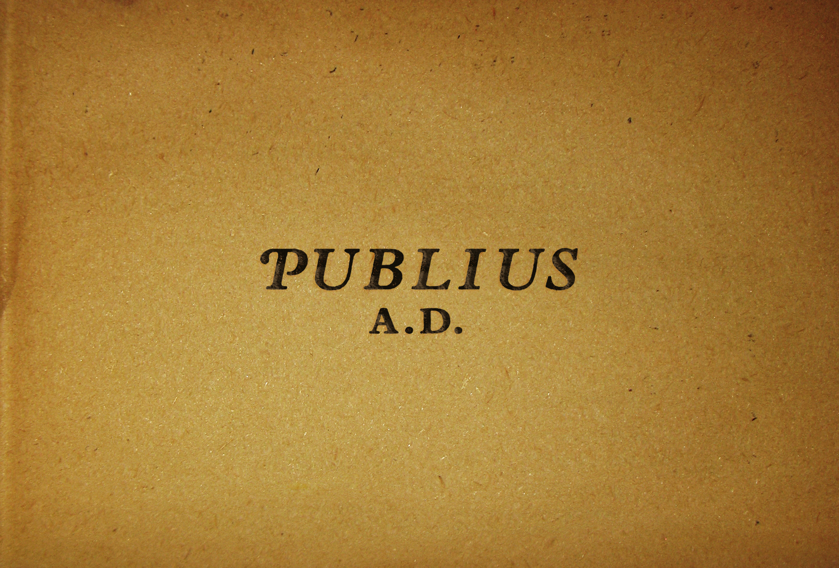 Publius A.D. was a concept for a political blog that would discuss current American politics through the lense of the Federalist Papers. The logotype and treatment was inspired by the printing of the papers themselves.