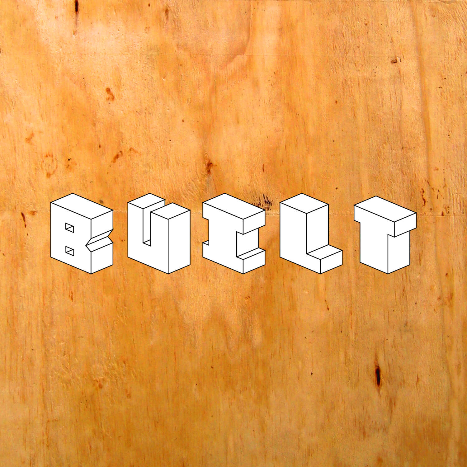 Logo for Built. Built is an exhibition about products designed and manufactured by the designers themselves. No sending off your ideas to factories or fabricators! Those who innovated a way past limitations earned a stage of appreciation during NYCxDesign 2018 at Canal Street Market. Designed under the art direction of Mark McGinnis.