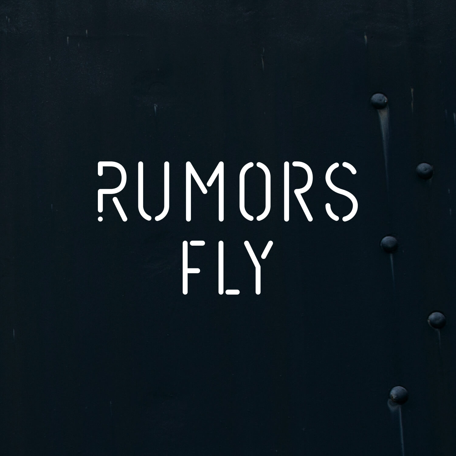 """Logo for Rumors Fly. Rumors Fly was a storytelling exhibition.Along with each product submission participants were required to tell a rumor about their piece. Something true, something false, something that gives an inside look to the creative process. Featured in    Core77's """"Our Favorite Booths at ICFF 2017""""."""