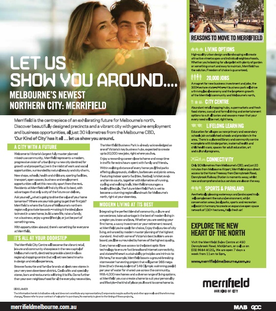 Advertorial copy | Merrifield