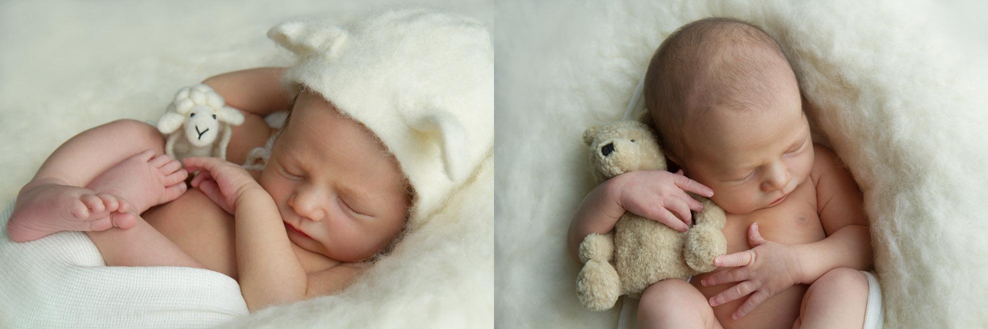 Hamilton-baby-photographer-newborn-with-lamb-and-teddy-bear.jpg