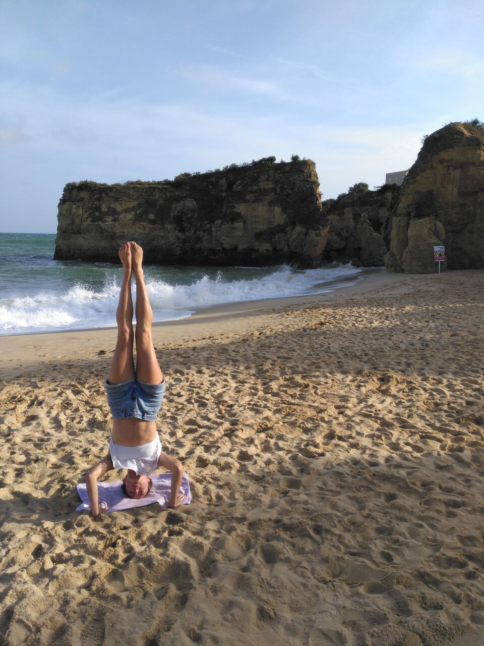 Obligatory beach headstand pic :)