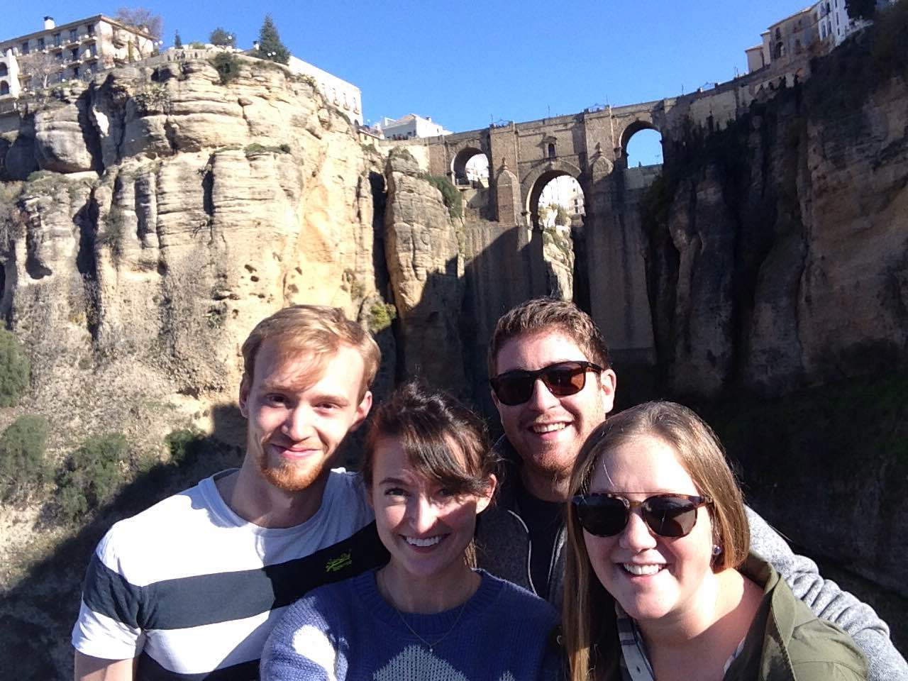 The best road trip crew! Sam, me, Julio, and Alexa
