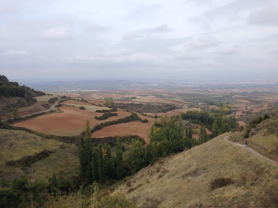 View from a castle on top of a mountain in Clavijo.
