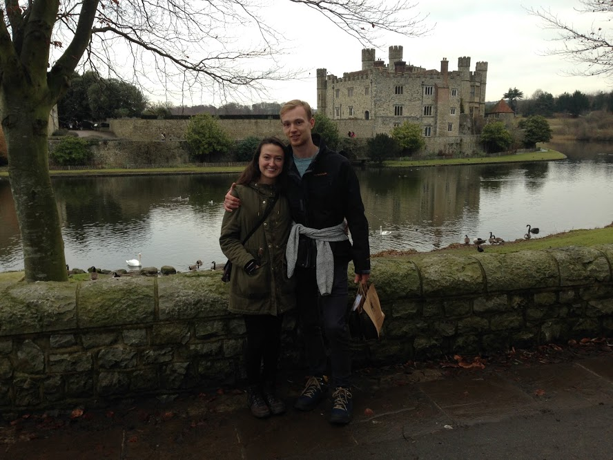 Me and Sam in front of Leeds Castle