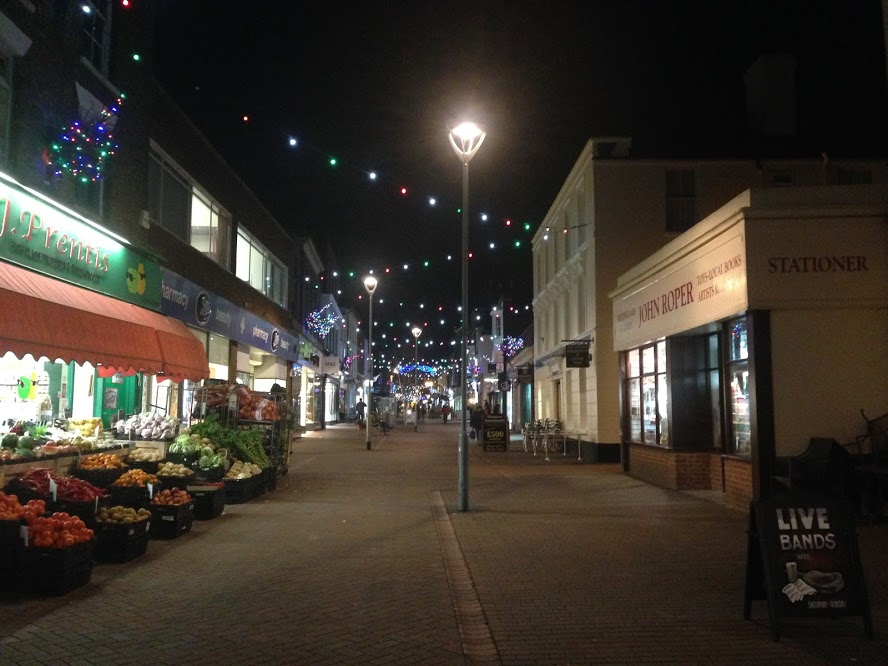 Christmas lights in downtown Deal