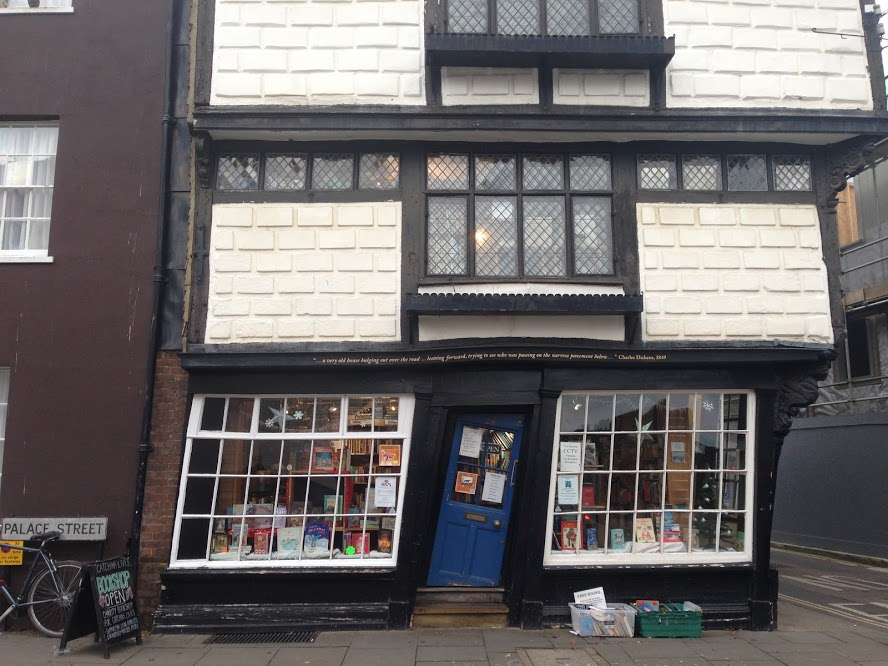 A crooked bookshop in Canterbury
