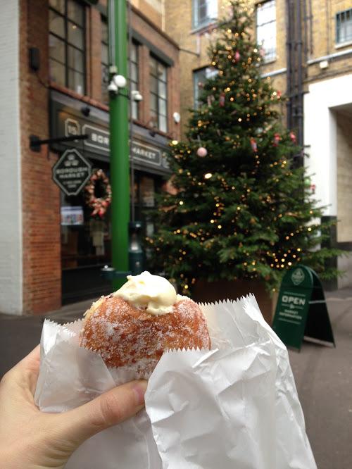 Heavenly donut from Bread Ahead at Borough Market