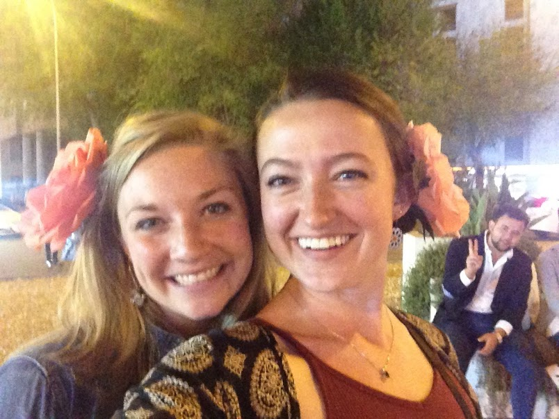 Sydney and I with our obligatory Feria flowers