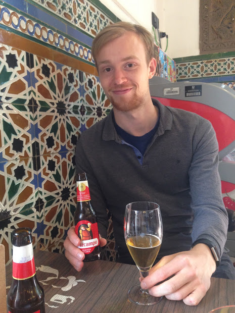 Happy to be drinking Cruzcampo