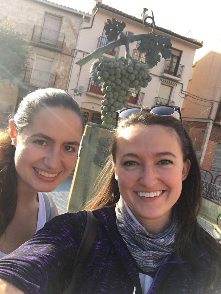 Caroline and me after one of our first hikes from Logroño to Fuenmayor. Shout out to this girl who is actually currently walking the entire Camino de Santiago!