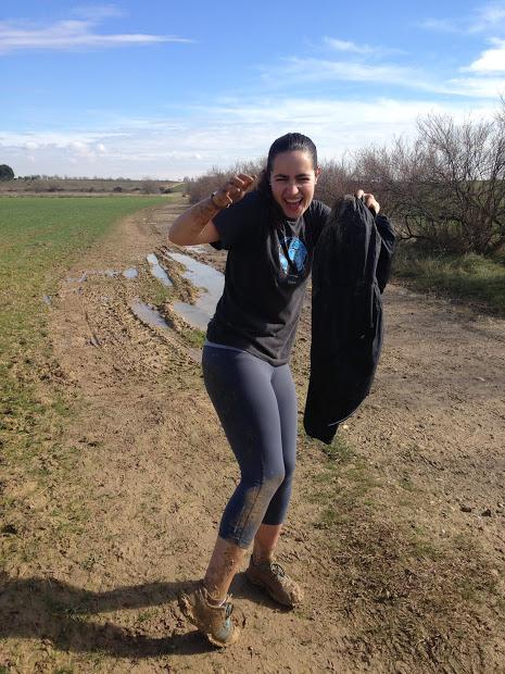 Caroline fell in the mud lolol