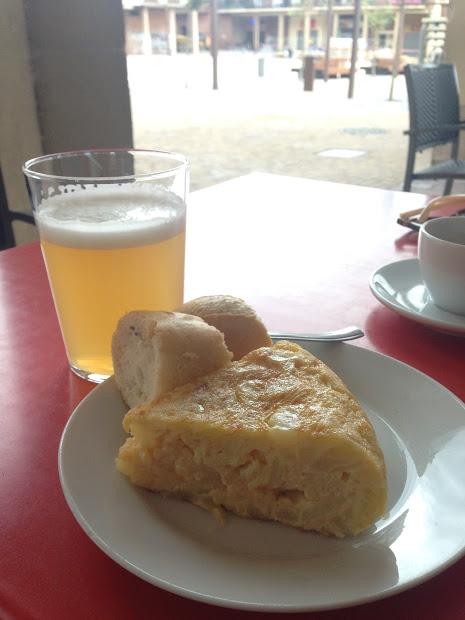 Tortilla and Radler. Perfect post-hike treat.