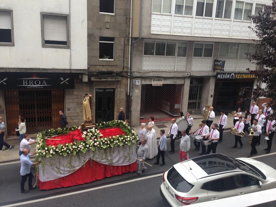 Religious procession in Santiago