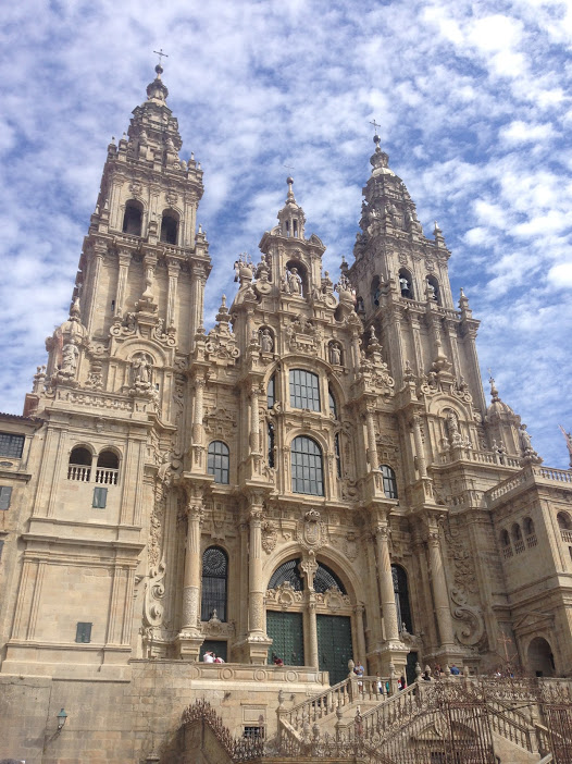 The famous cathedral of Santiago