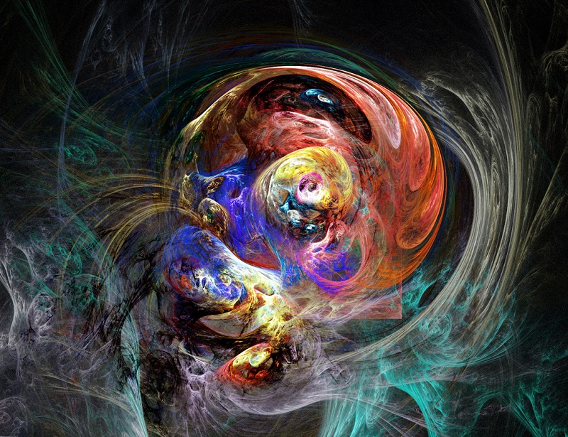 """( """"Colorful Concentric Fractal""""  