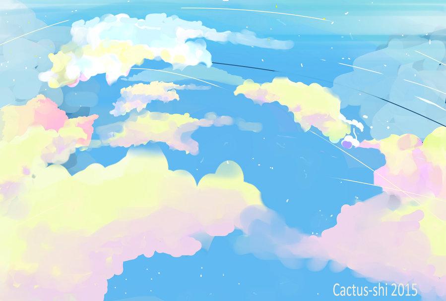 ( Sky Landsacpe    Cactus-shi)