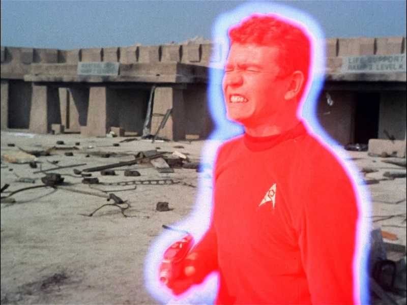 """A  """"Redshirt""""  death from Star Trek"""