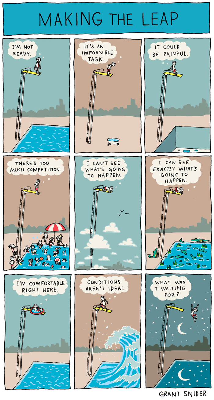 Comic illustration by Grant Snider, Incidental Comics. Published with permission; all rights reserved.